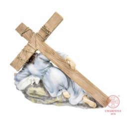 Krzyż stojący 21,5 cm - Złoty/Srebrny