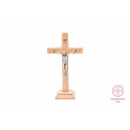Krzyż stojący bezbarwny - 19 cm