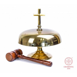 Gong mosiężny pojedynczy 26 cm + młotek